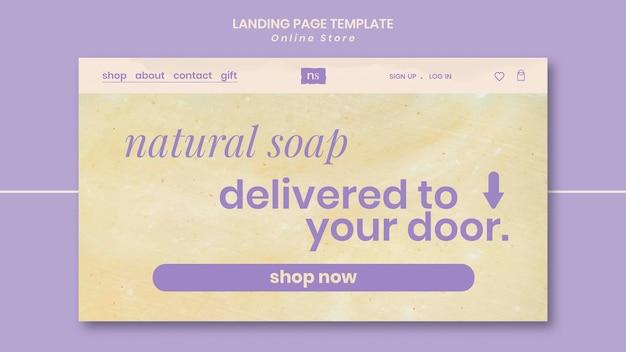 Página de inicio de la tienda de jabón artesanal