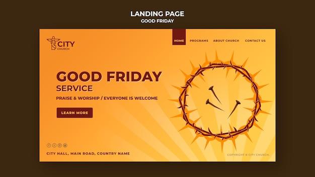 Página de inicio del viernes santo