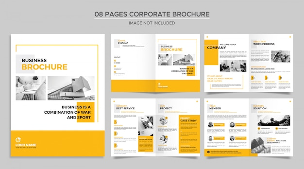 Pagina's bedrijfsbrochuremalplaatje