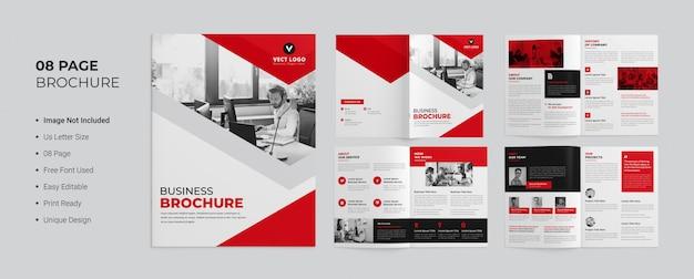 Pagina's zakelijke brochureontwerp
