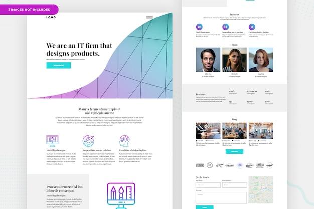 Página del sitio web de banca de inversión