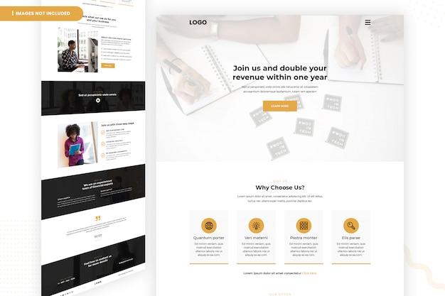 Página del sitio web de ingresos