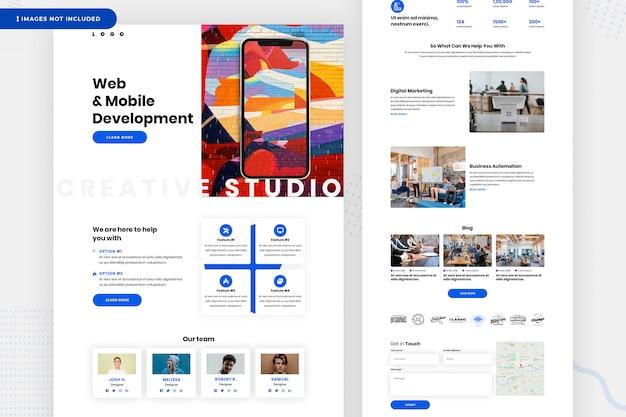 Página web de desarrollo web y móvil