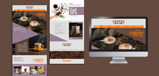 Pagine di destinazione della caffetteria