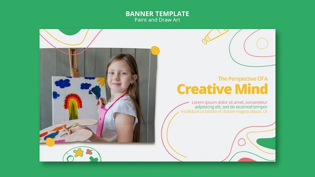 Paint & draw art banner template thema