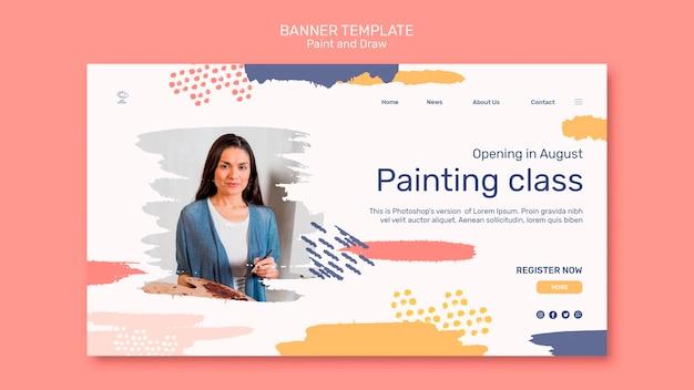 Paint & draw concept sjabloon voor spandoek