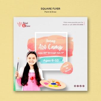 Paint & draw flyer design