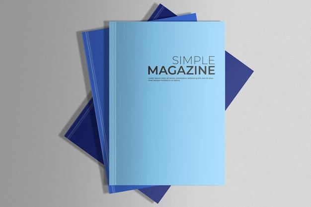 Pak met tijdschriften mockup