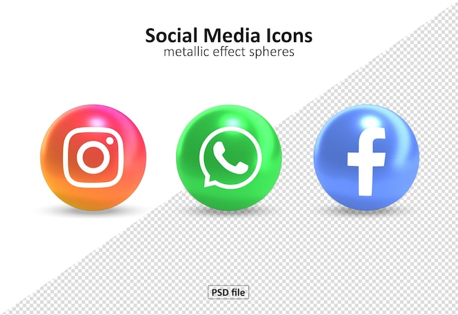 Pakket met sociale media-pictogrammen