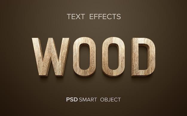 Palabra con efecto de texto de madera