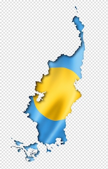 Palau vlag kaart