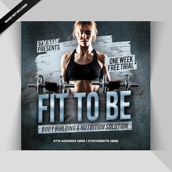 Palestra fitness instagram post o banner