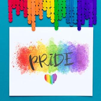 Palitos de colores para el día del orgullo