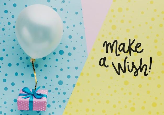 Palloncini colorati compleanno con coriandoli