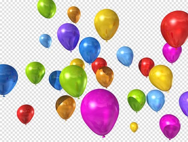 Palloncini colorati isolati su bianco