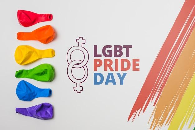 Palloncini mockup di orgoglio gay