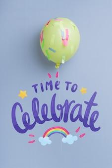 Palloncino di celebrazione con spazio di copia