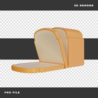 Pan 3d renderizado sobre fondo transparente