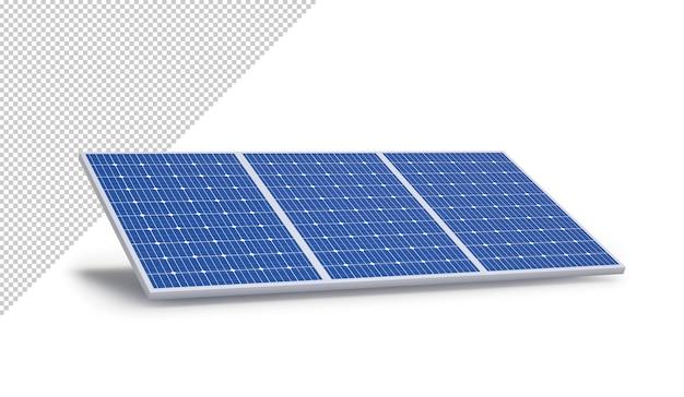 Panel solar aislado sobre un fondo blanco, maqueta