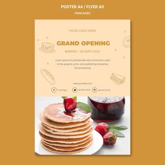 Pannenkoeken restaurant poster sjabloon