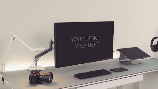 Pantalla del monitor de la computadora