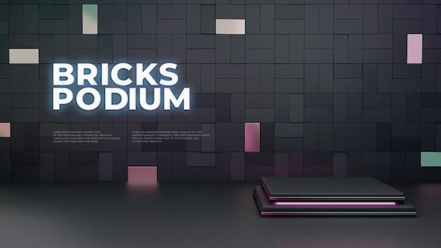 Pantalla de producto bricks 3d podium