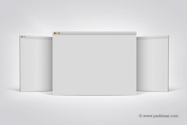 Pantalla de visualización plantilla navegador mac