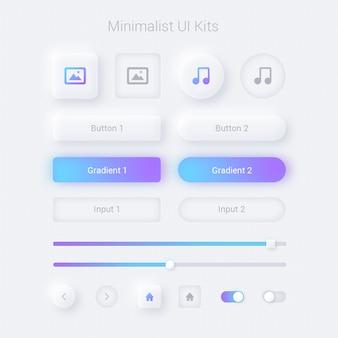Pantalla web y aplicaciones de interfaz de usuario minimalista
