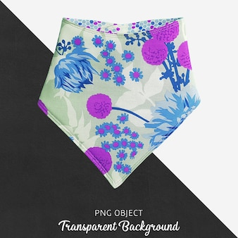 Pañuelo estampado colorido para bebé o niños en fondo transparente