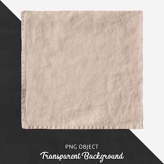 Pañuelo de lino cuadrado beige transparente.
