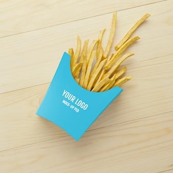 Papas fritas embalaje maqueta