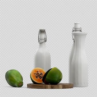 Papaya render 3d
