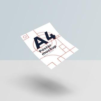 Papel a4 maqueta psd gravedad