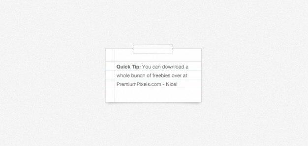 Papel de carta y una cinta adhesiva (psd)