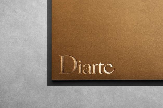 Papel de lujo de la esquina de la maqueta del logotipo