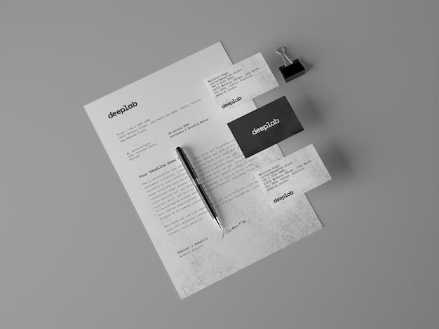 Papel con membrete y tarjetas de visita