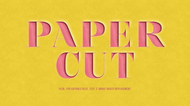 Paper cut 3d-effect tekststijl