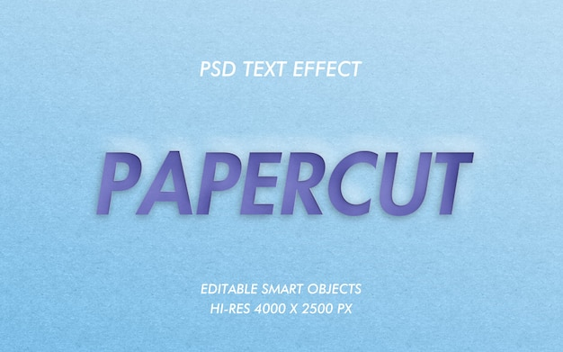 Papercut-teksteffect