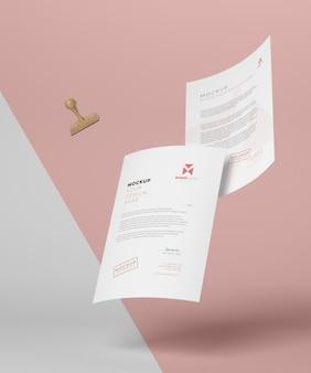 Papier en zegel mock-up assortiment