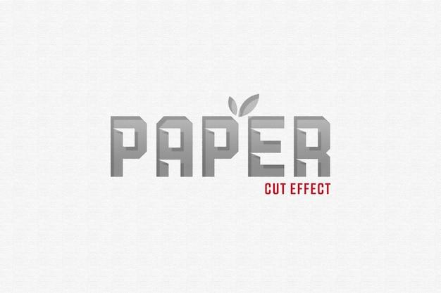 Papier gesneden teksteffect sjabloon