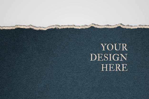 Papier mockup ontwerp achtergrond