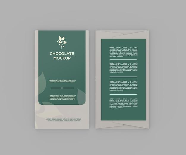 Papieren chocoladereepmodel