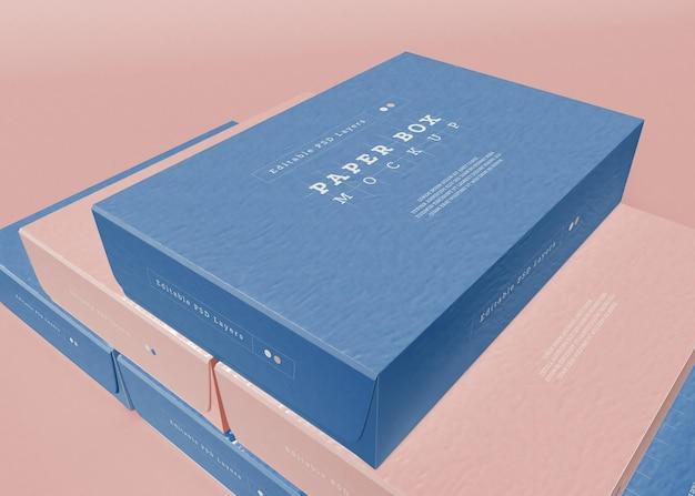 Papieren doos verpakking mockup