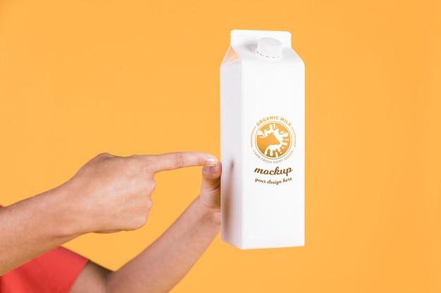 Papieren fles concept mock-up