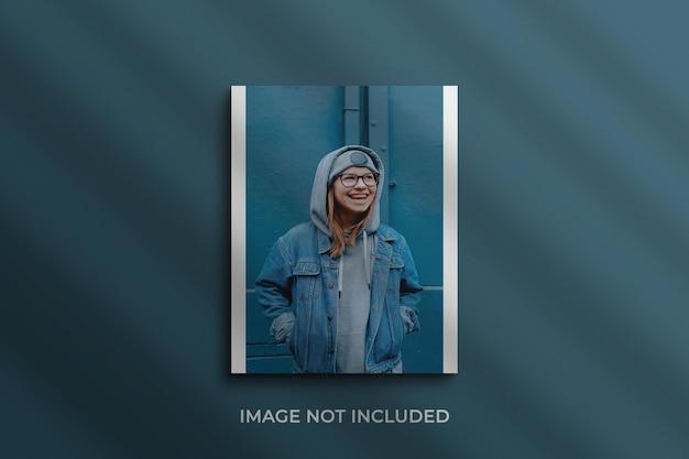 Papieren fotolijstmodel premium psd