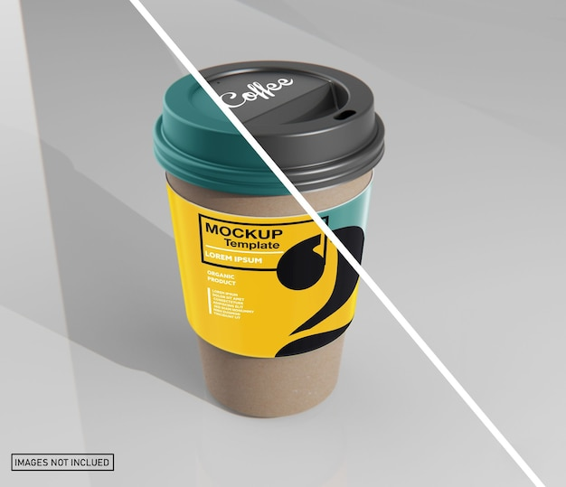 Papieren koffiekopje met mouwmodel