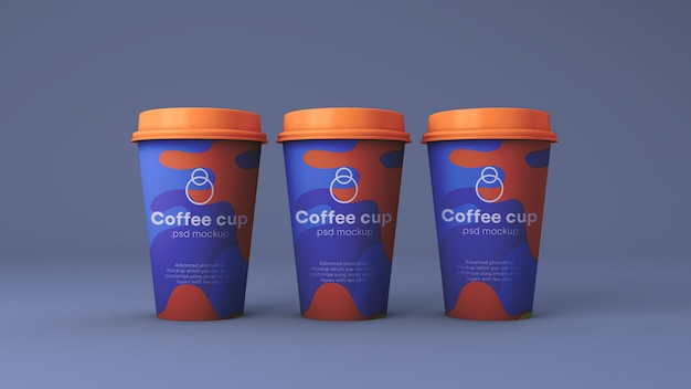 Papieren koffiekopje mockup psd