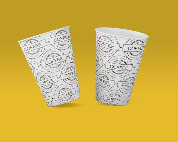 Papieren koffiekopje mockup