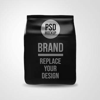 Papieren koffietas 3d-rendering mockup design