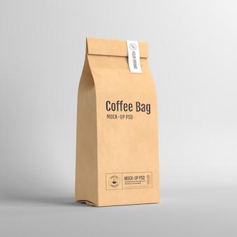 Papieren koffiezakverpakkingen